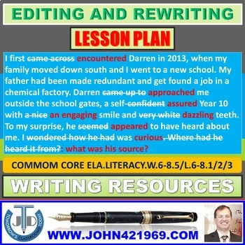 EDIT AND REWRITE: LESSON & RESOURCES