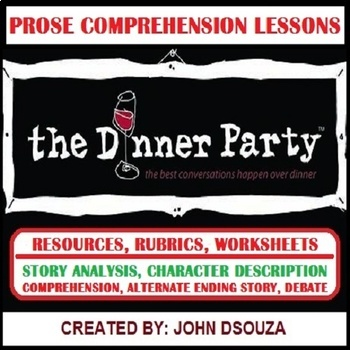 DINNER PARTY - PROSE COMPREHENSION: LESSONS & RESOURCES