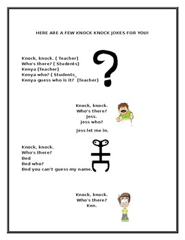 LEARNING TO READ WITH POETRY #10: Knock Knock Jokes