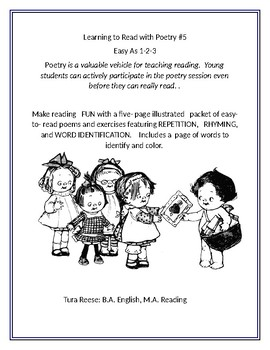 LEARNING TO READ WITH POETRY #5: Easy as 1-2-3