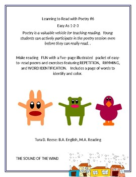 LEARNING TO READ WITH POETRY #6: Easy as 1-2-3