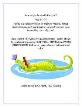 LEARNING TO READ WITH POETRY #7: Easy as 1-2-3