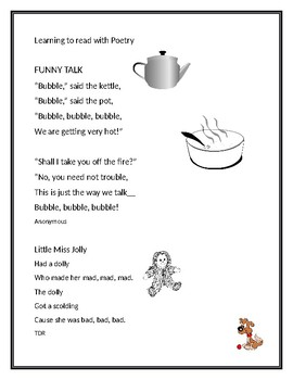 LEARNING TO READ WITH POETRY #9:  Easy as 1-2-3