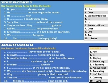 PRESENT TENSE: LESSON, RESOURCES & WORKSHEETS