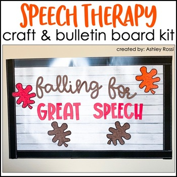 LEAVES & ACORNS Speech Therapy Craft & Bulletin Board Kit