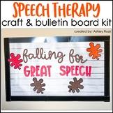 LEAVES & ACORNS Speech Therapy Craft & Bulletin Board Kit