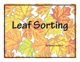 Leaves: Sorting Mats-Colorful, Informational, Great for So