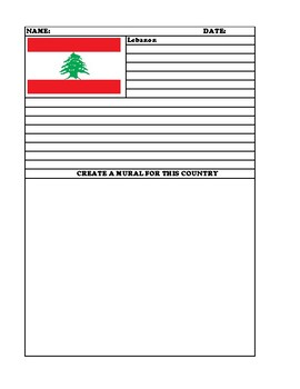 LEBANON Summary Writing and Mural Assignment