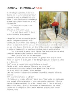 SPANISH READING: EL PARAGUAS ROJO