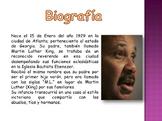 LECTURA Y PREGUNTAS MARTIN LUTHER KING JR. (ESPANOL)
