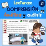 LECTURAS COMPRENSION BASADAS SONIDOS READING PASSAGES SPANISH COMPREHENSION