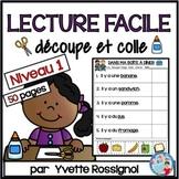 LECTURE FACILE   Niveau 1   Découpe et colle pour Maternelle  | French Reading