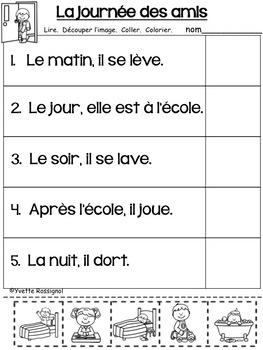 LECTURE FACILE (Découpe et colle) Niveau 2 French Reading Cut and Paste