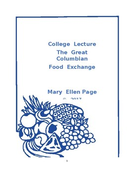 LECTURE. The Great Food Exchange