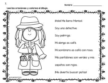 LEE Y COLOREA CUENTOS DE COMPRENSIÓN