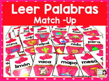 LEER PALABRAS MATCH UP