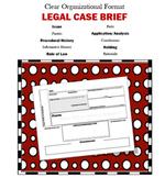 LEGAL CASE BRIEF
