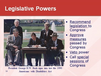 LEGISLATIVE BRANCH: powerpoint & cloze notes sheet
