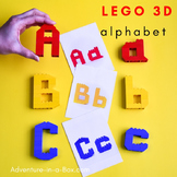 LEGO 3D Alphabet Printable Cards: Uppercase and Lowercase Letters