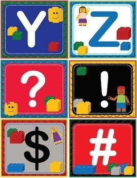 LEGO ABC 123 Number and Letter Cards Shelf Labels