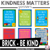 """LEGO Be Kind Kindness Matters Posters - 8.5""""x11"""", 18""""x24"""" - Ready for Printing"""