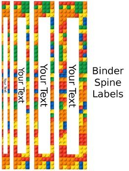 LEGO Binder Covers & Spine Labels