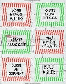 LEGO Challenge Cards: Christmas Edition