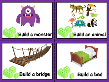 LEGO Challenge Task Cards {Great for STEM or fun building!}