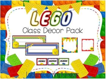 LEGO Classroom Decor Pack-*EDITABLE*