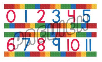 LEGO Classroom Number Line