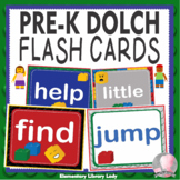 LEGO Like Dolch Pre-Kindergarten Pre-K Grade Sight Words Flash Cards Letters