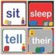 LEGO Like Dolch Second 2nd Grade Sight Words Flash Cards, Letters and Numbers