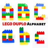 LEGO Duplo Alphabet Printable Cards: Uppercase & Lowercase Letters