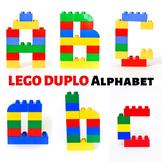LEGO Duplo Alphabet Printable Cards: Uppercase & Lowercase