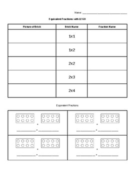LEGO Equivalent Fractions