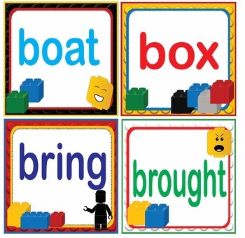 LEGO Like Fry Fifth 5th 100 Sight Words Flash Cards, Letters and Numbers