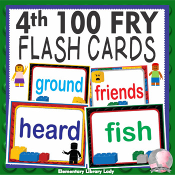 LEGO Like Fry Fourth 4th 100 Sight Words Flash Cards, Letters and Numbers