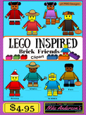 LEGO Inspired Kids Clipart | Commercial Use OK