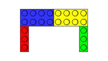 LEGO Letters- Multi (Red, Yellow, Green, Blue)