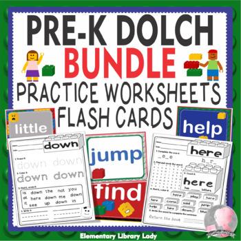 LEGO Like Dolch Pre-Kindergarten PK Grade Sight Words Cards Activities BUNDLE