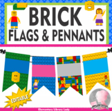 LEGO Decor EDITABLE Pennants Chevrons Flags - Small and Large