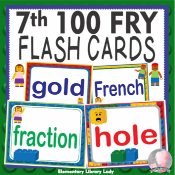LEGO Like Fry Seventh 7th 100 Sight Words Flash Cards, Letters and Numbers