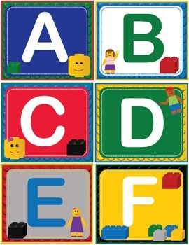 LEGO Like Fry Sixth 6th 100 Sight Words Flash Cards, Letters and Numbers