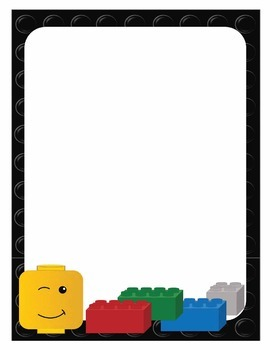 LEGO Like Full Page, Half Page and Small Notes Stationery Set