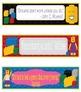 LEGO Like Growth Mindset Bookmarks, Shelf Markers or Desk Name Plates -EDITABLE
