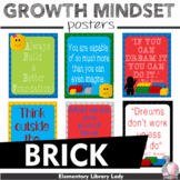 """Growth Mindset Posters BRICK Decor in LEGO Style - 8.5""""x11"""