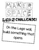 LEGO MAKERSPACE CHALLENGES