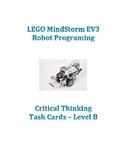 LEGO MindStorm critical thinking EV3 Robot Challenge Task Cards Set B