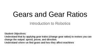 LEGO Mindstorm Gear Study