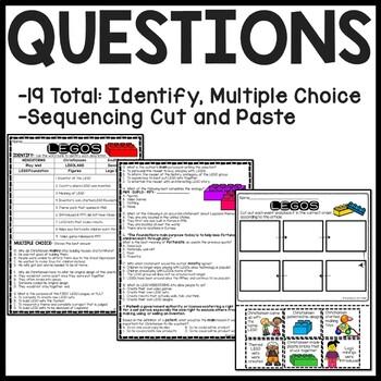 LEGO Reading Comprehension Informational Text Worksheet